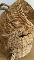 Интерьерные корзины из бумажной лозы